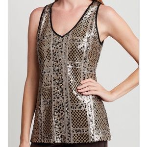 🌿 ETCETERA 2016 Holiday Collection Sequin V-Tank